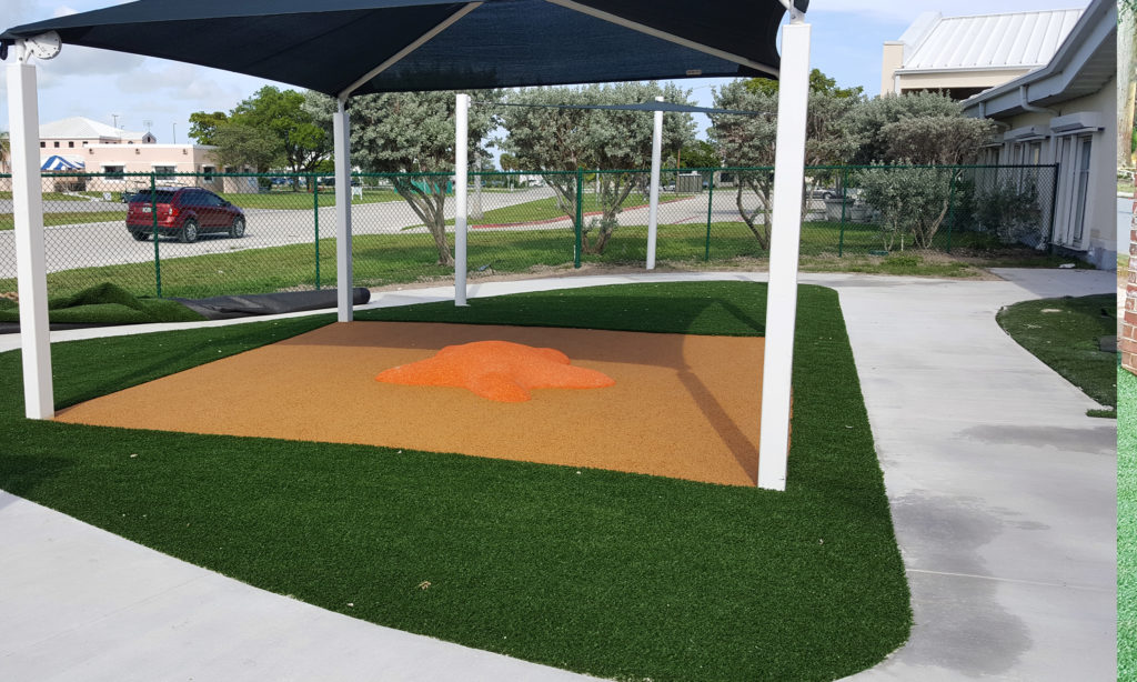 Shade Solution, Synthetic Grass Turf Installation - Safe4Play