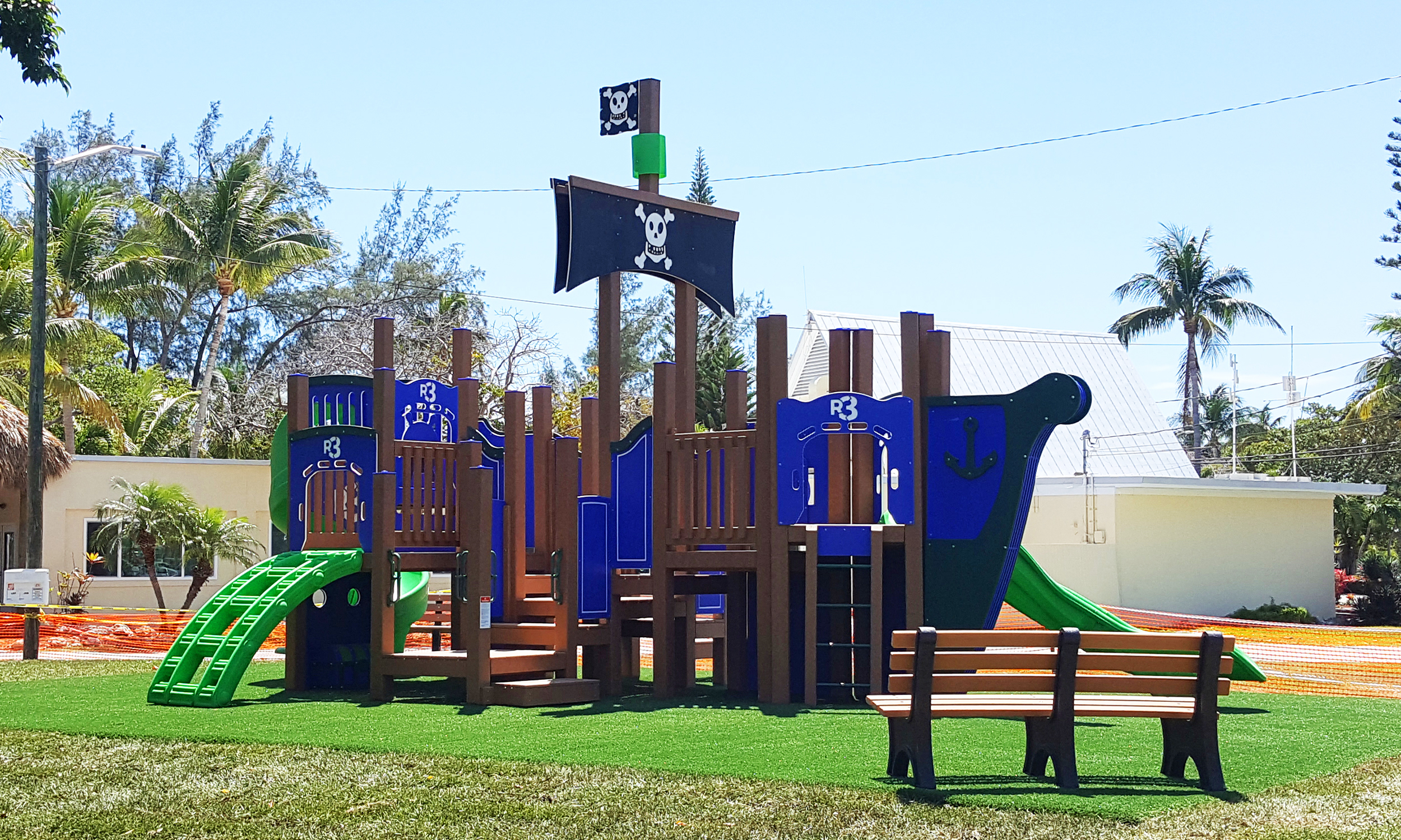 Playground, Shade and Synthetic Grass Turf Installation - Safe4Play